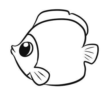How to draw to the child a small fish with a pencil step by step