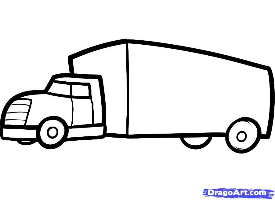 As it is simple to draw the truck to the child with a pencil