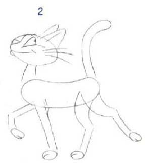 How to draw two Wolf cubs to the child with a pencil step by step 2