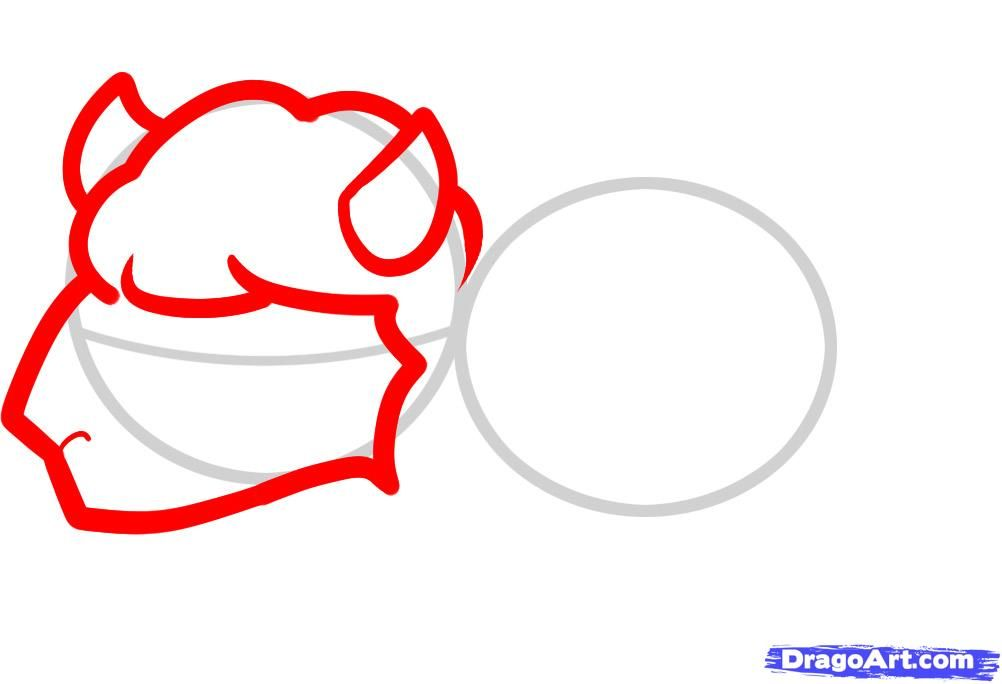 How to draw a bear cub with a beehive to the child a pencil step by step 3
