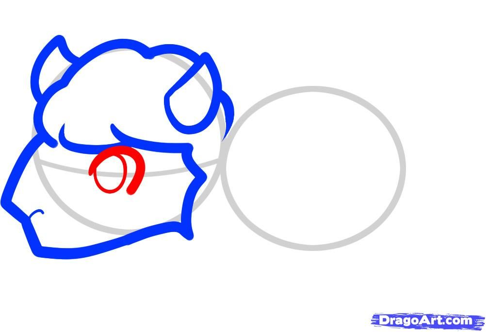 How to draw a bear cub with a beehive to the child a pencil step by step 4