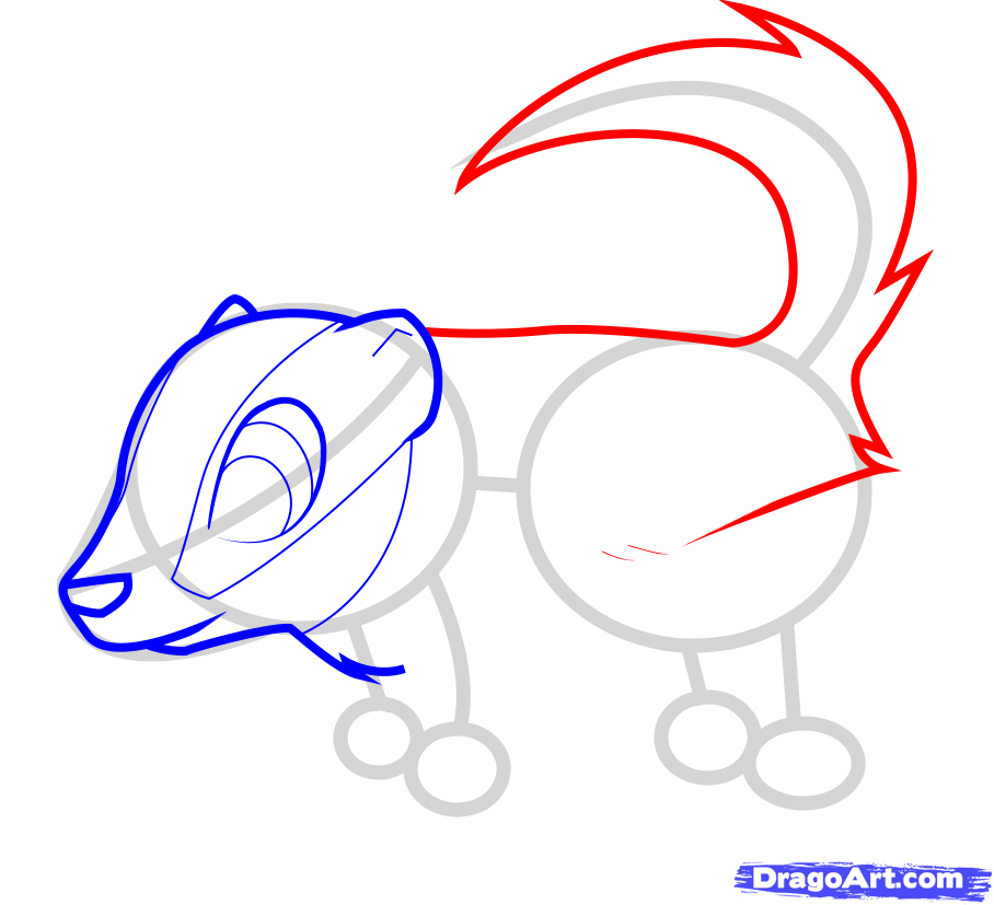 How to draw a nice lizard to the child with a pencil step by step 5