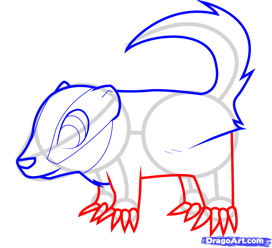 How to draw a nice lizard to the child with a pencil step by step 6