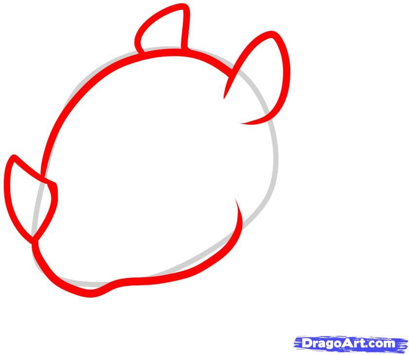 How to draw a little toad to the child with a pencil step by step 3