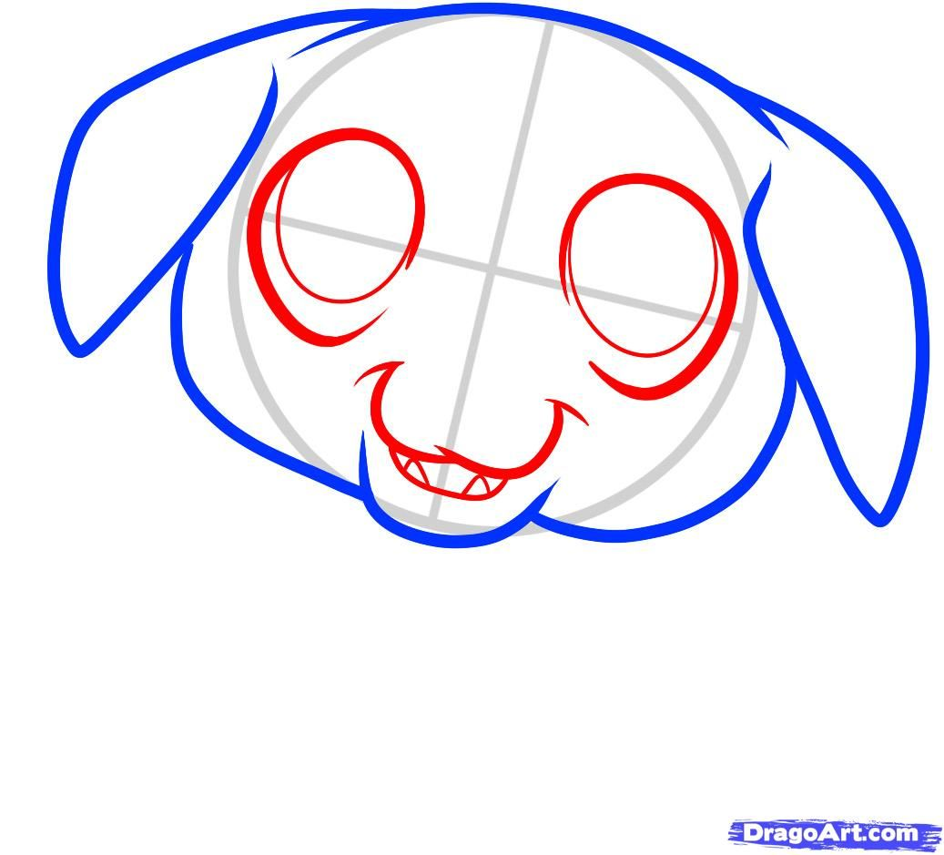 How to draw a pig to the child with a pencil step by step 4