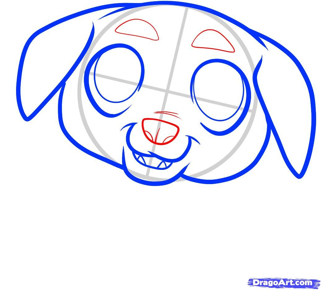 How to draw a pig to the child with a pencil step by step 5