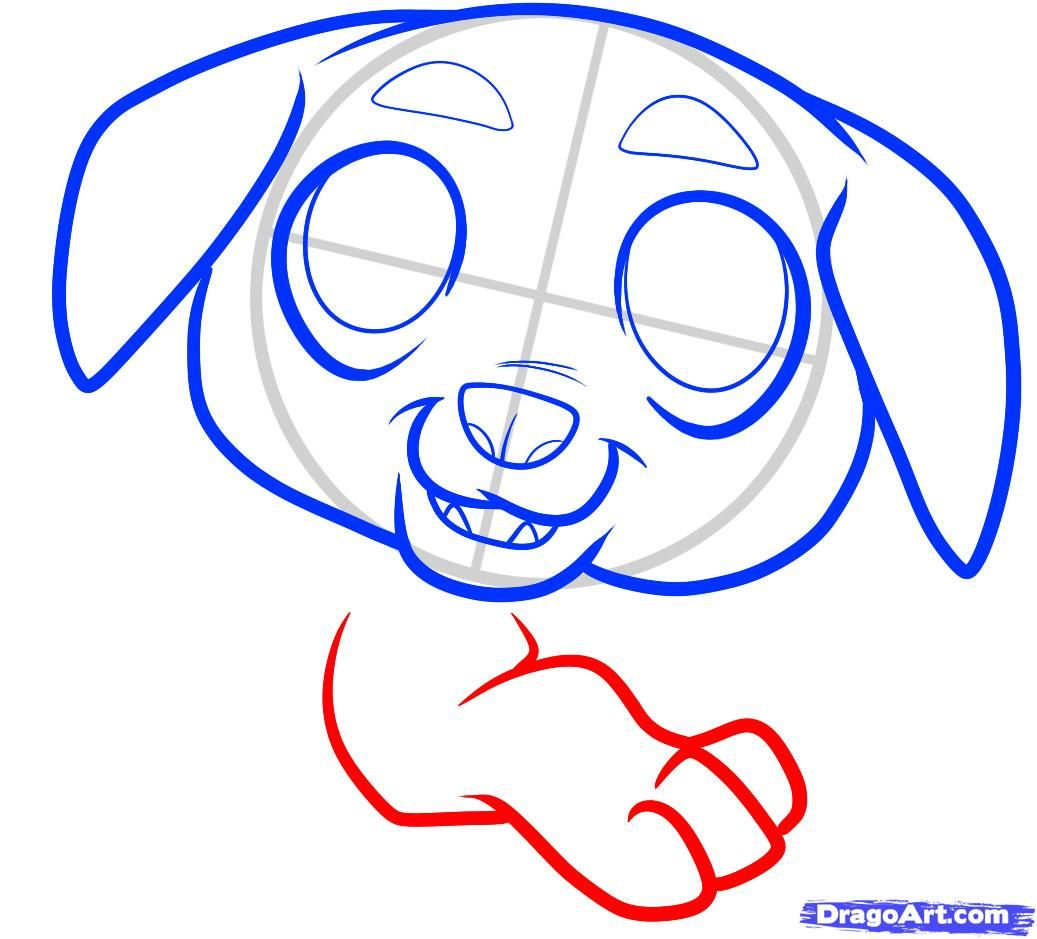 How to draw a pig to the child with a pencil step by step 6
