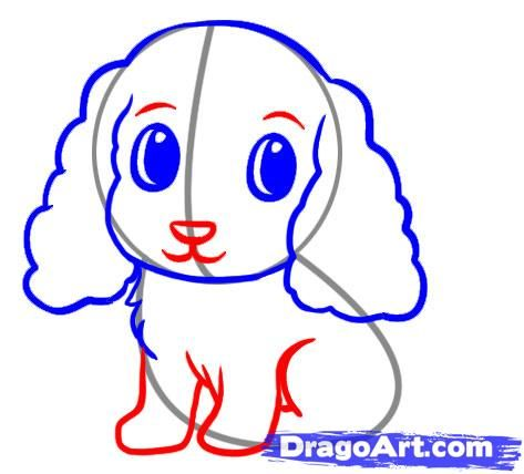 Uchimya to draw a puppy a pencil step by step 5