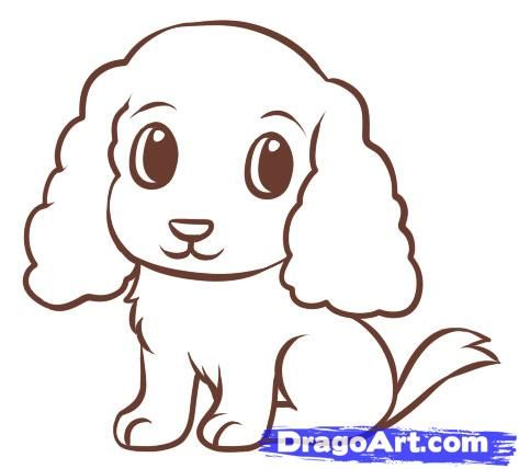 As it is easy to draw a puppy for children step by step