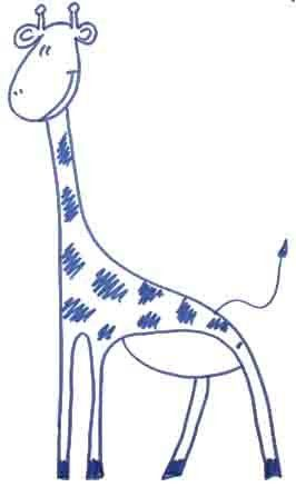We draw a giraffe step by step
