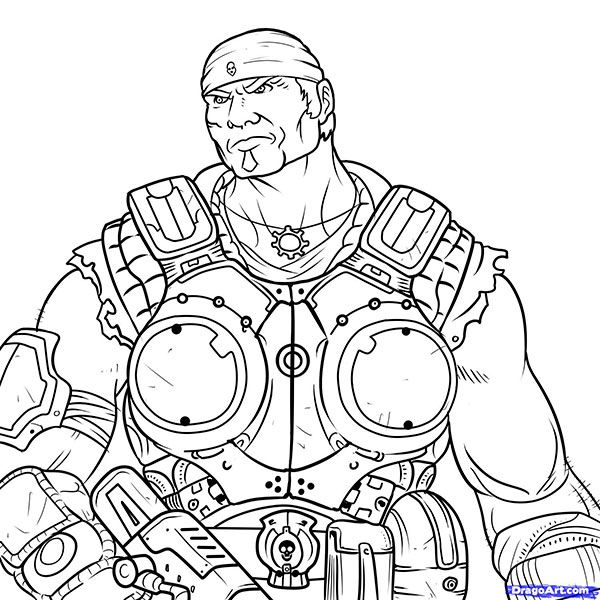Comme dessiner Markousa le Ph?nix de Gears of War par le crayon progressivement