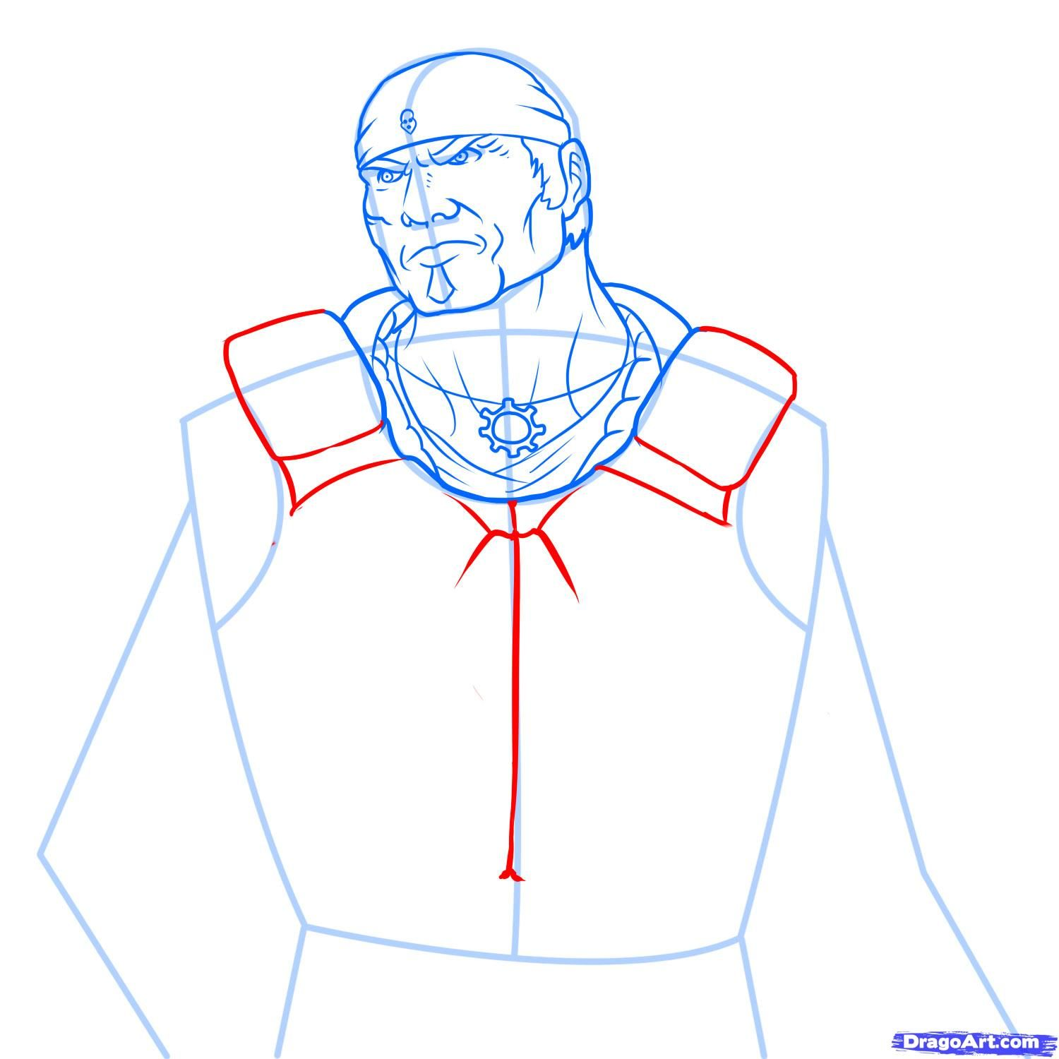 How to draw Ezio from Assassins Creed with a pencil step by step 8