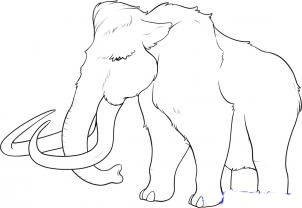 How to draw mammoths step by step