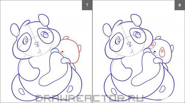 How to draw an olenenka step by step 4
