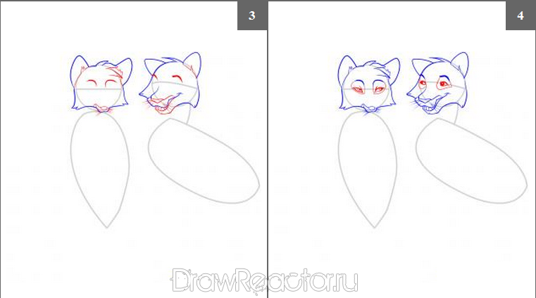 How to draw the Tiger cub step by step 2