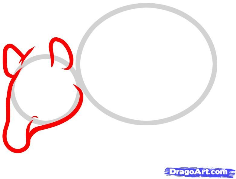 How to draw the going bear with a pencil step by step 3