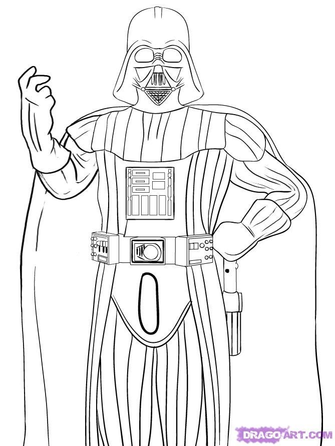 How To Draw Darth Vader With A Pencil Step By Step