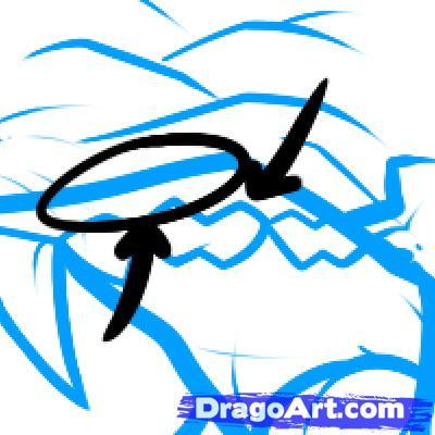 How to draw fish a sazan a pencil step by step 7
