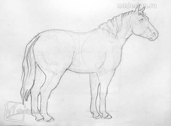 As it is simple to draw a horse on paper with a pencil