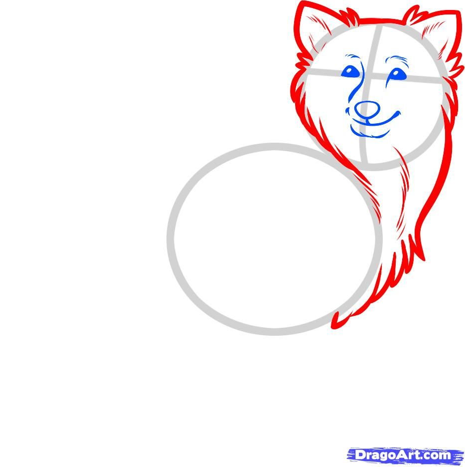 How to draw two puppies of a pit bull terrier with a pencil step by step 4