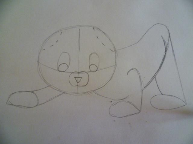 As it is easy to draw a cat on paper with a pencil 4