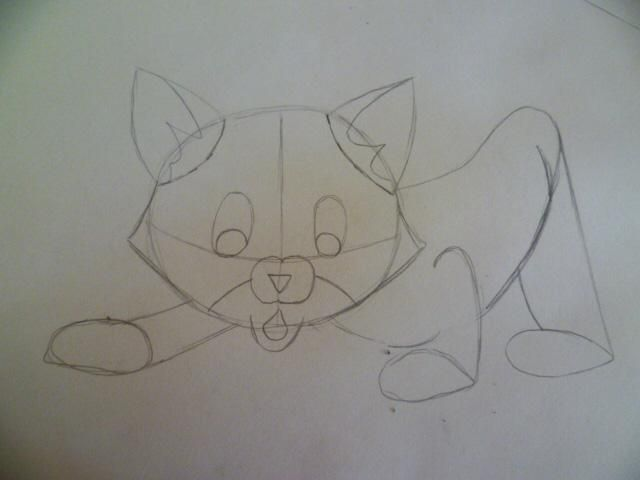 As it is easy to draw a cat on paper with a pencil 5
