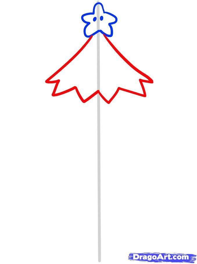 As it is simple to draw a Christmas garland with a pencil 4