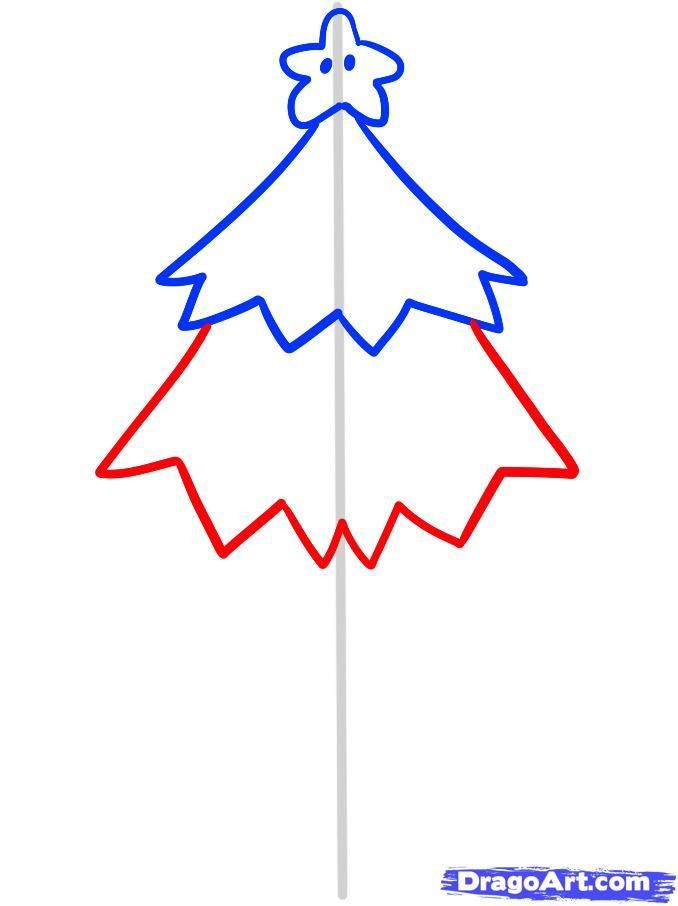 As it is simple to draw a Christmas garland with a pencil 5