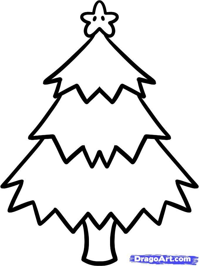 As it is simple to draw a New Year tree with a pencil step by step