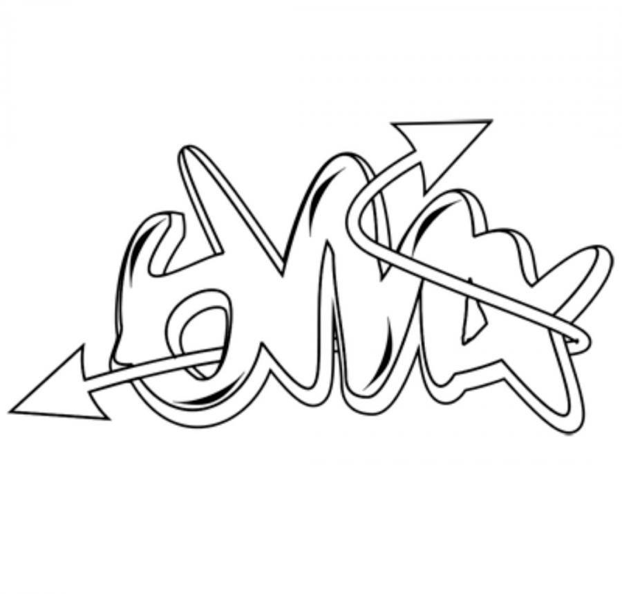 How to draw the word bmx with a simple pencil step by step
