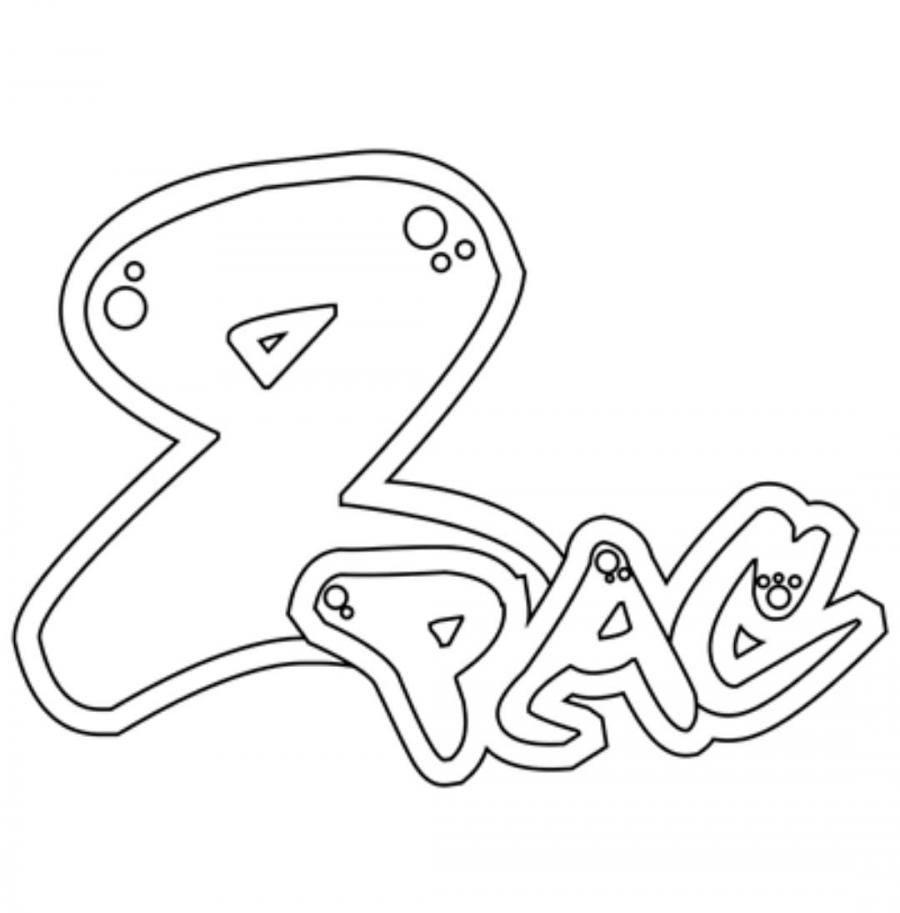 How to draw the word PAC in style of graffiti a pencil step by step
