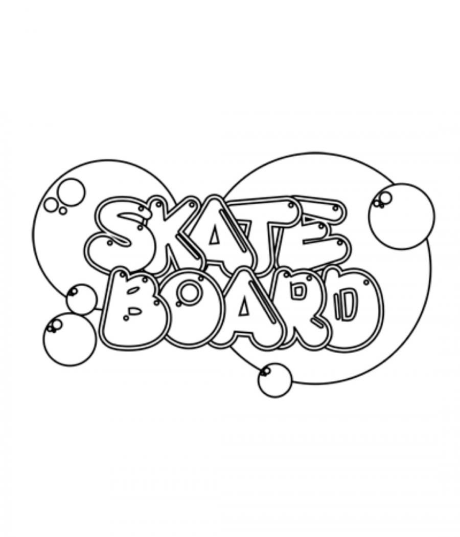 As it is beautiful to draw the word skateboard on paper with a pencil step by step
