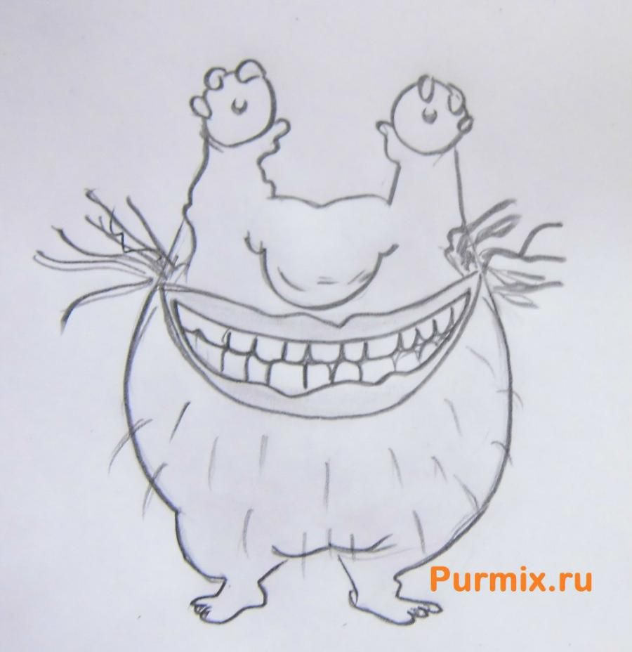 How to draw Kramm from cartoon serial AAA! Real monsters