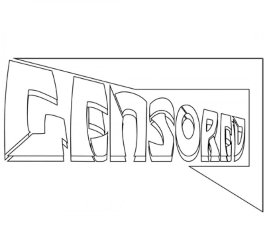 How to draw the word censored with a pencil step by step