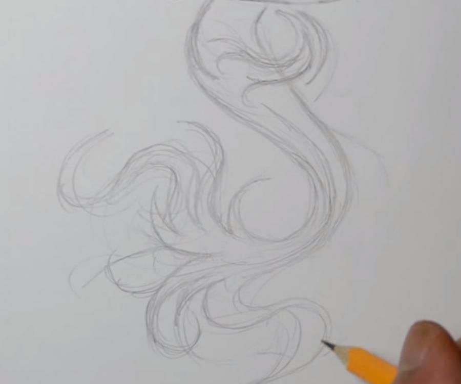 How to draw with a pencil a tattoo: a note with wings step by step 3