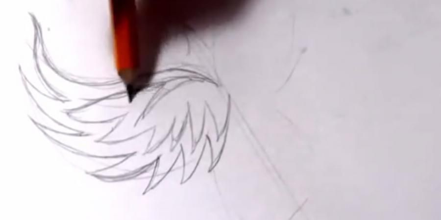 How to draw pumpkin in style of a tattoo with a pencil step by step 2
