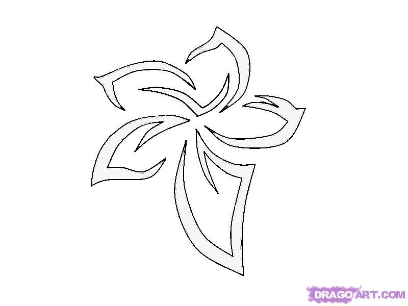 How to do a tattoo a flower pattern a pencil step by step
