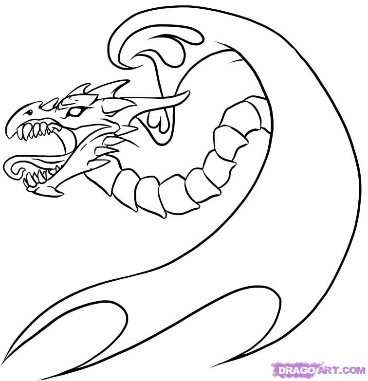 How to draw a dragon tattoo with a pencil step by step