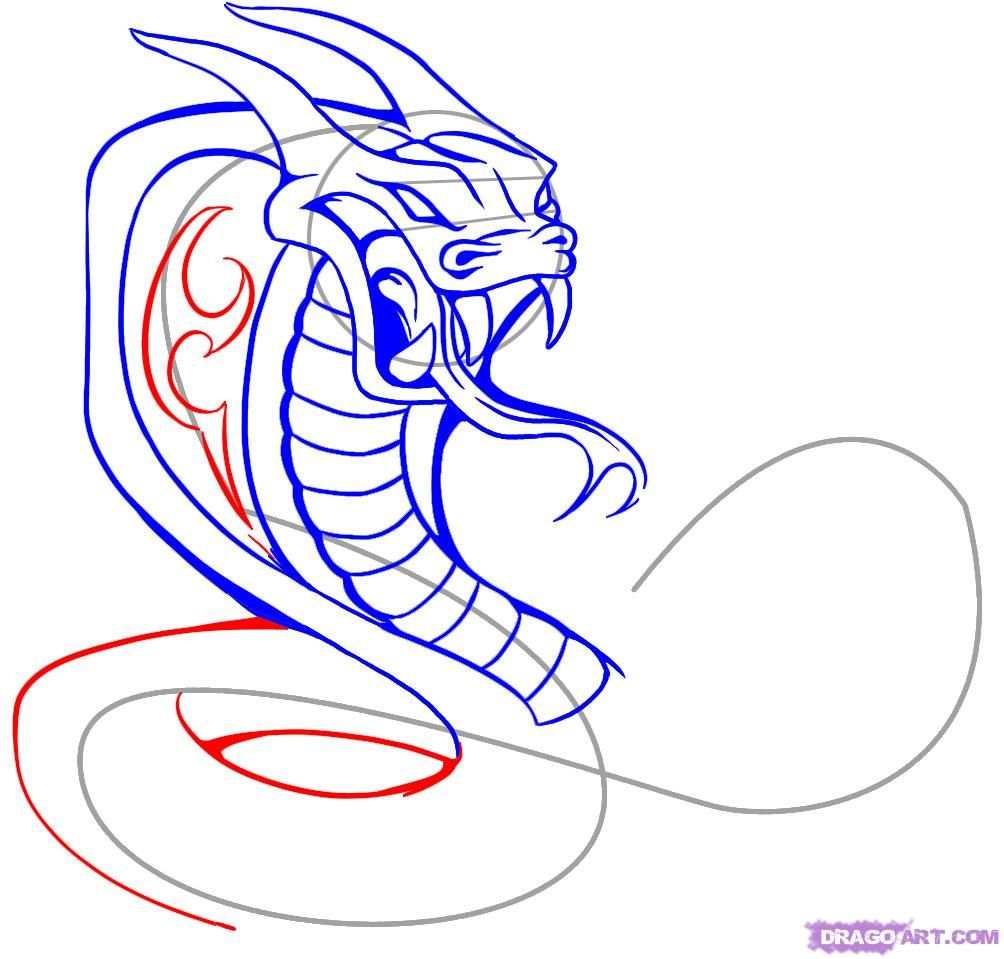 How to draw a tattoo of a scorpion with a pencil on paper step by step 8