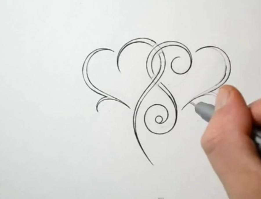 How to draw a dragon in style of a tattoo with a pencil step by step 3