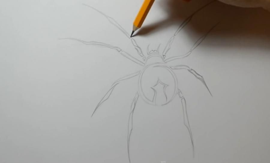 How to draw the head of a great reaper with a pencil step by step 3