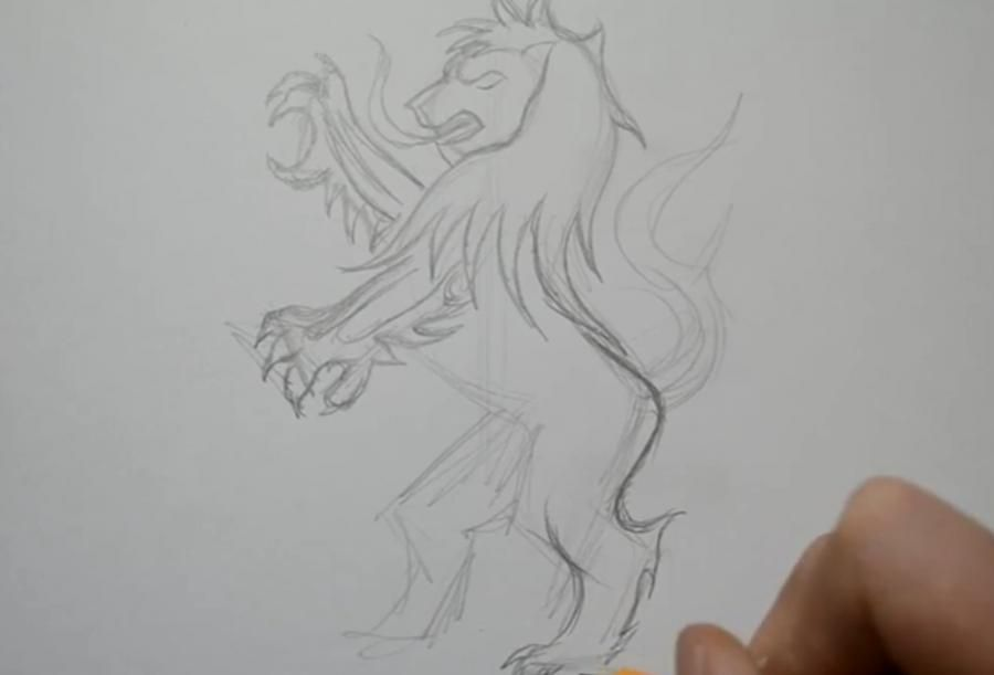 How to draw a dolphin tattoo with a pencil step by step 2