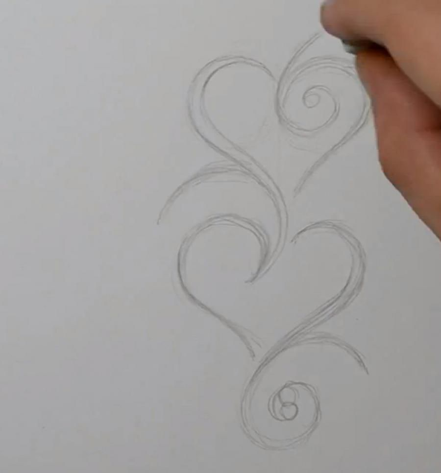 How to draw a dragon tattoo on paper step by step 2