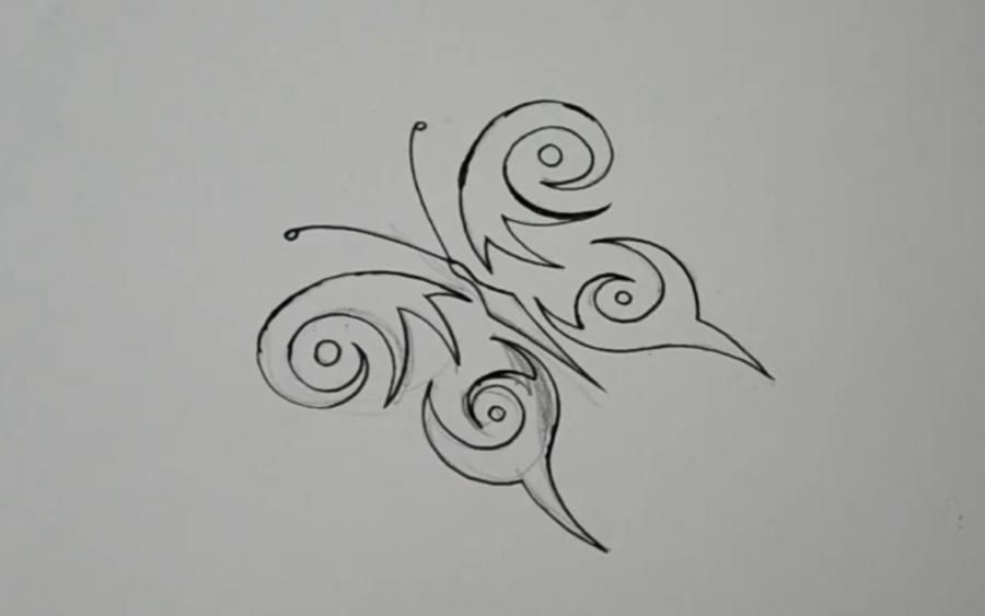 How to draw a tattoo of an octopus with a pencil on paper step by step 6