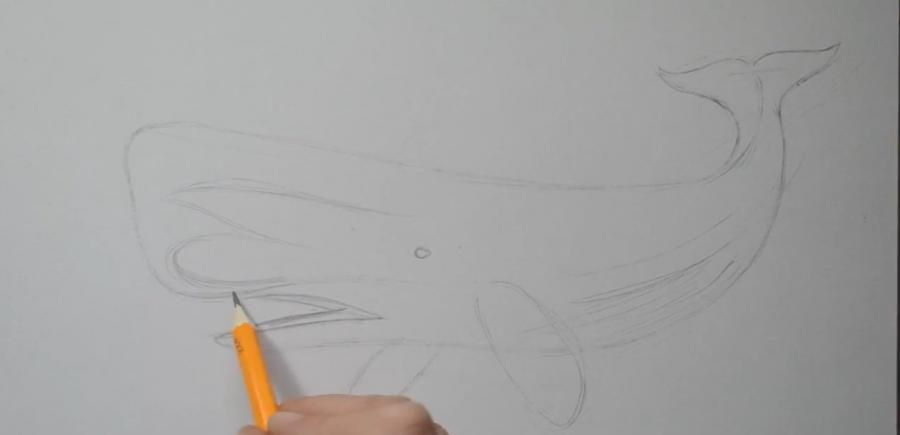 How to draw a tattoo of a wolf with a pencil step by step 2