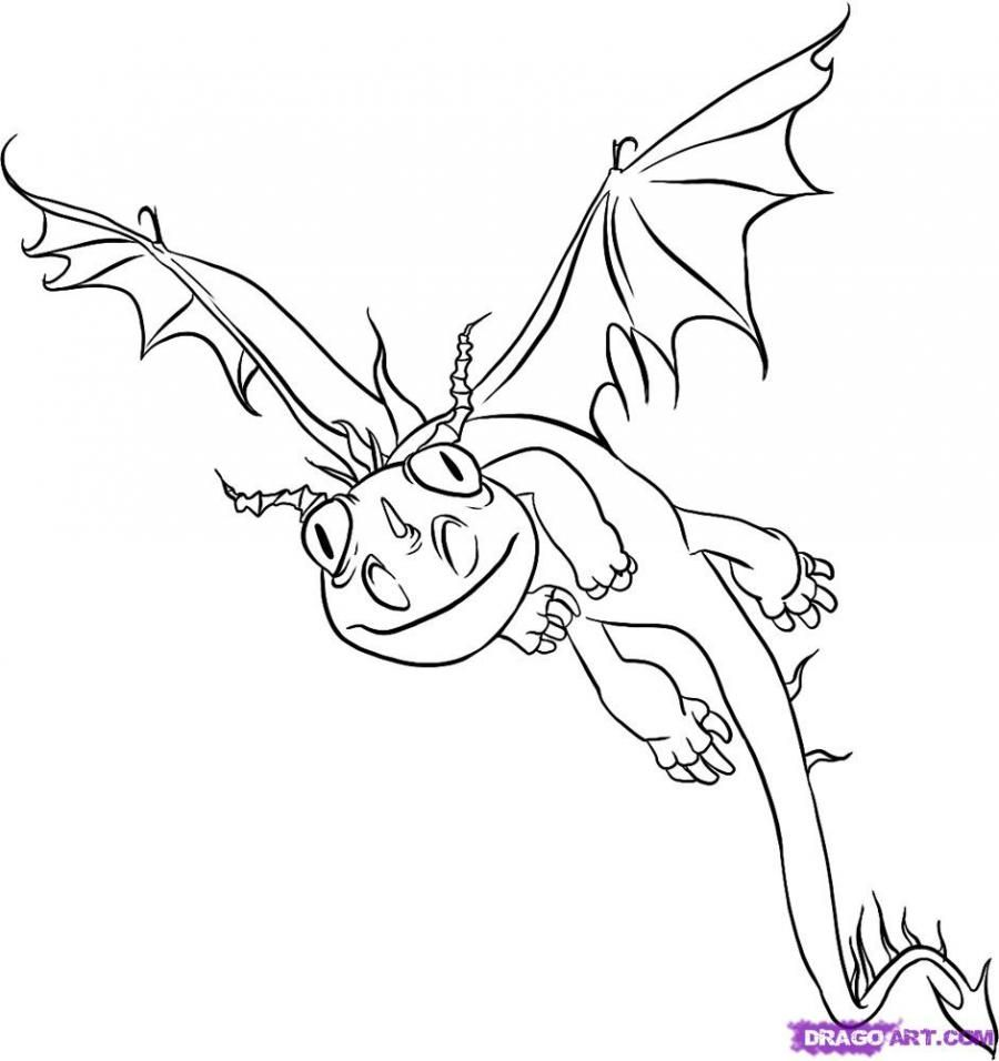 How to draw a dragon Terrible horror from How to tame a dragon