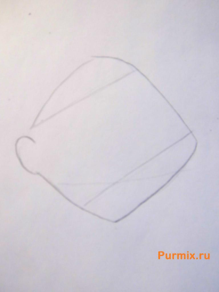 How to draw a bear of Barry from Abrupt beavers with a pencil 2