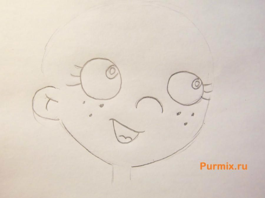 How to draw Biatris from Simpsona's cartoon serial with a pencil 3