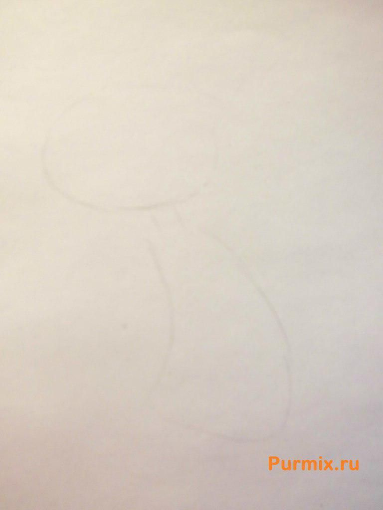 How to draw Squidward Shchupaltsa with a pencil step by step 2
