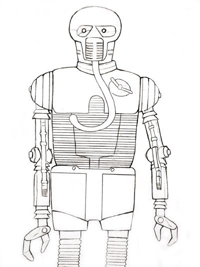 Figure 2-1B Medical droid step by step